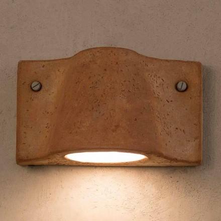 Lampa ścienna wewnętrzna / zewnętrzna z terakoty Toscot Lido wyprodukowana we Włoszech