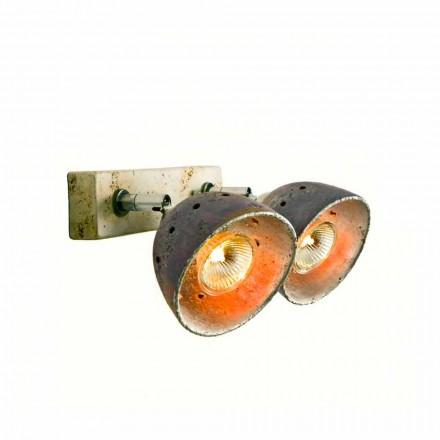 Toscot Noceto lampa ścienna z 2 światłami regulowanymi made in Toskania