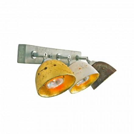 Toscot Noceto lampa ścienna z 3 światłami regulowanymi made in Toskania