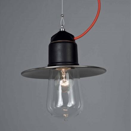 Toscot Novecento lampa wisząca z podsufitką made in Toscania