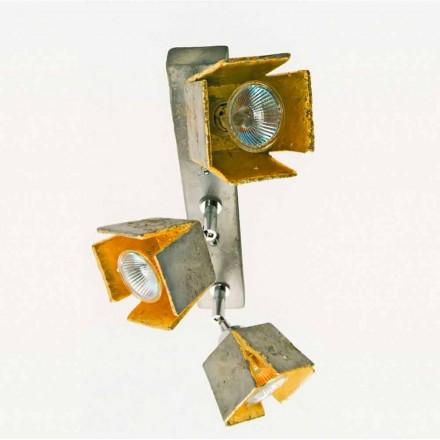 Toscot Piastra lampa sufitowa z 3 światłami regulowanymi made in Toskania