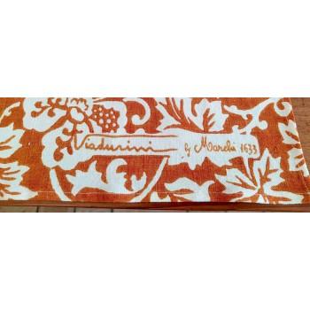Ręcznie drukowany artystyczny obrus Unikalny kawałek wysokiej włoskiej sztuki rzemieślniczej