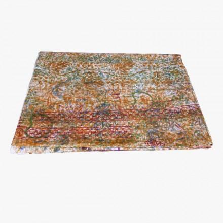 Obrus włoskiej sztuki z unikalnym kawałkiem bawełny ręcznie drukowanej