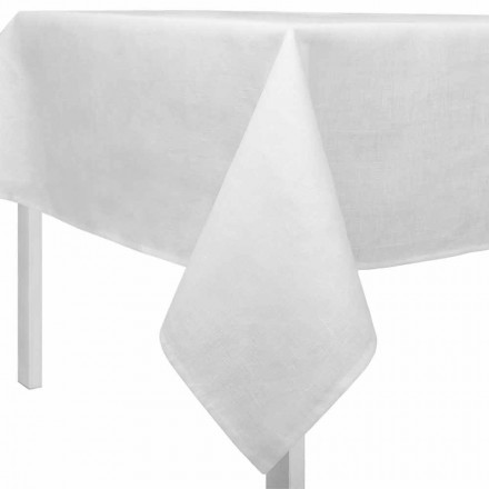 Prostokątny lub kwadratowy kremowy biały obrus Made in Italy - Blessy