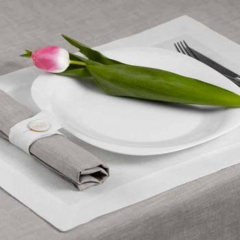 Biała lub naturalna biała lniana podkładka Made in Italy - Poppy