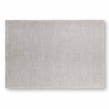 Podkładka w kolorze kremowej bieli lub naturalnego lnu Made in Italy, 2 sztuki - Blessy