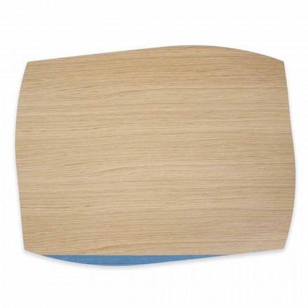 4 nowoczesne prostokątne podkładki z drewna dębowego Made in Italy - Abraham