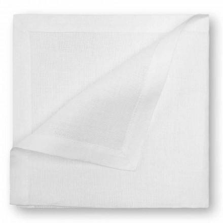 Serwetka lniana w kolorze naturalnym lub kremowo-białym Made in Italy, 2 sztuki - Mak