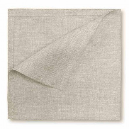Serwetka lniana w kolorze naturalnym lub kremowo-białym Made in Italy, 2 sztuki - Blessy