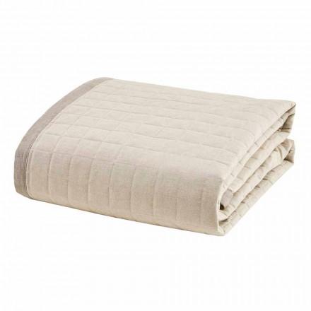 Kołdra wiosenna do łóżka podwójnego z bawełny Ivory - Vitaleta