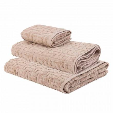 Trio ręczników kąpielowych z frotte Cotton Towel, Face and Guest - Ginestra
