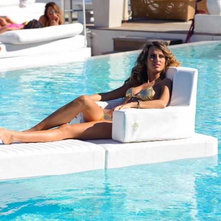 Trona pływający fotel design w kolorze białym, made in Italy