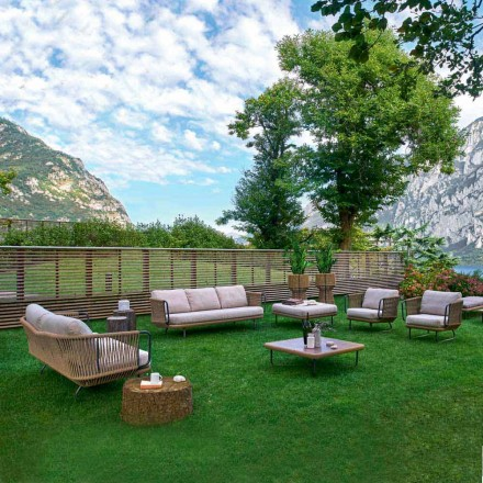 Varaschin Babylon salon ogrodowy nowoczesny z aluminium i liny