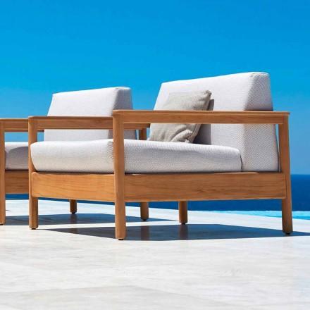 Nowoczesny fotel outdoorowy z tkaniny tapicerowanej Bali firmy Varaschin