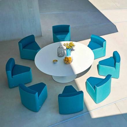 Varaschin Big In&Out stół ogrodowy + 8 foteli, nowoczesny design