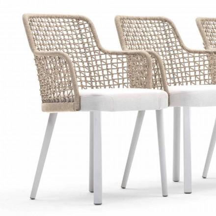 Nowoczesny fotel tapicerowany na zewnątrz, Emma od Varaschin