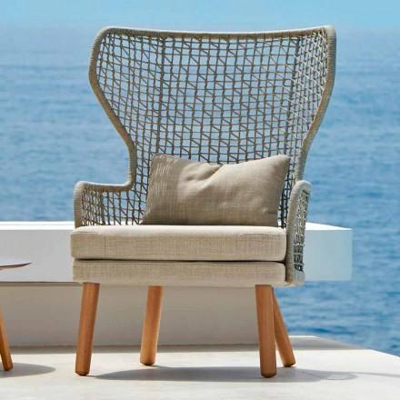 Nowoczesny fotel tapicerowany Emma od Varaschin