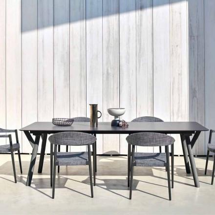 Varaschin Link stół do jadalni design, wysokość 75 cm