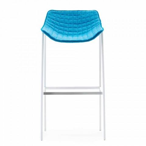 Varaschin Summer Outdoor Zestaw stołków ze stali i tkaniny