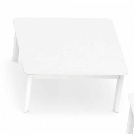 Projekt stolika kawowego na zewnątrz z malowanego aluminium System firmy Varaschin