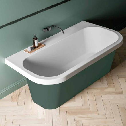 Bicolored Shiny / Matt Bathtub, Modern Free Standing - Margex