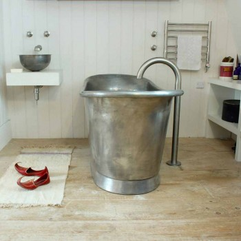 Wanna wolnostojąca kąpieli miedzi wykończone w niklu Julia