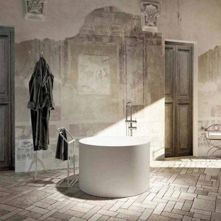 Wolnostojąca wanna Round design wyprodukowana w 100% we Włoszech, Cremona
