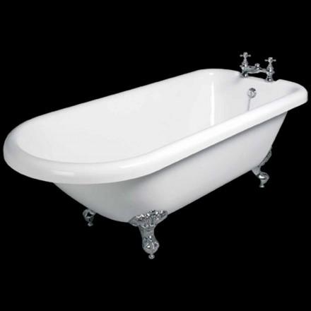Zaprojektuj wolnostojącą wannę z białego akrylu o wymiarach 1770 x 795 mm