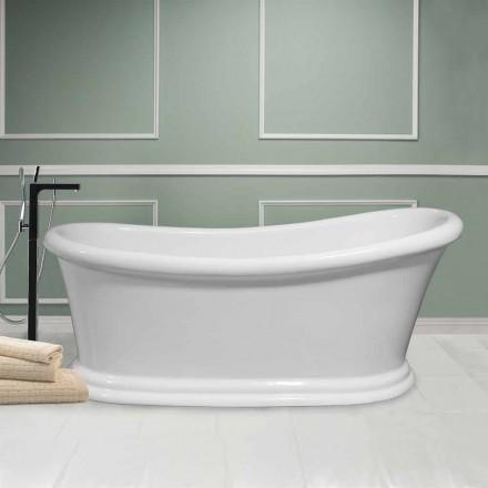 Nowoczesna biała wolnostojąca wanna akrylowa Zima 1710x730 mm