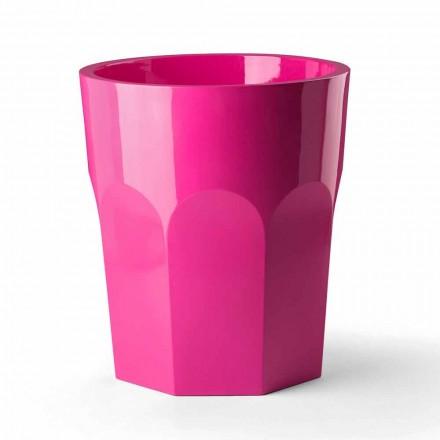 Wysoki dekoracyjny wazon w kształcie szkła z polietylenu Made in Italy - Pucca
