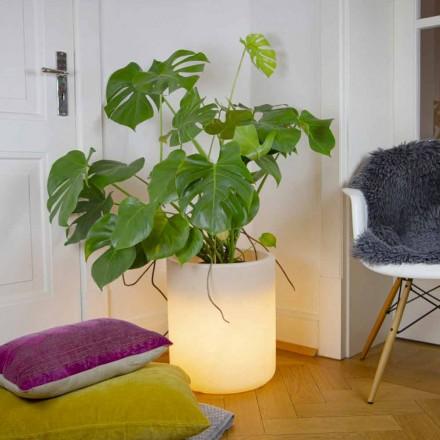 Wazon z oświetleniem ogrodowym lub wewnętrznym, nowoczesny design - Cilindrostar