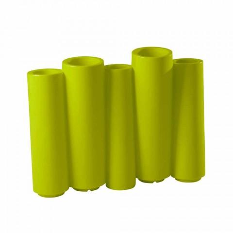 Dekoracyjny kolorowy wazon Slide Bamboo nowoczesny design wykonany we Włoszech