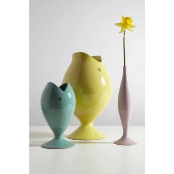 Dekoracyjny wazon ceramiczny w kształcie ryby królewskiej Made in Italy - Rey