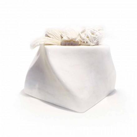 Wazon dekoracyjny z marmuru Bardiglio lub Carrara Made in Italy - Prisma