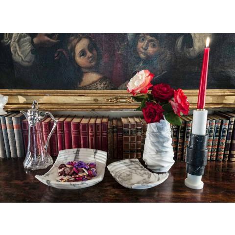 Arabeskowy marmurowy wazon dekoracyjny wykonany we Włoszech - Brock