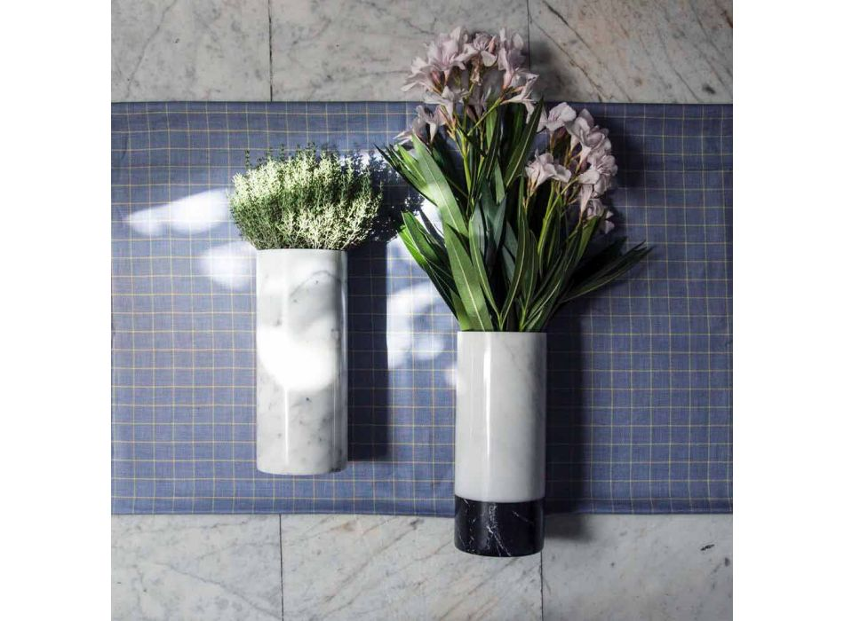 Biały marmurowy wazon dekoracyjny Carrara Wykonany we Włoszech Design - Nevea