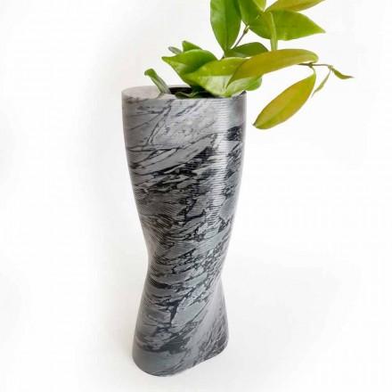 Nowoczesny dekoracyjny wazon z marmuru Bardiglio Fiorito Made in Italy - Dido