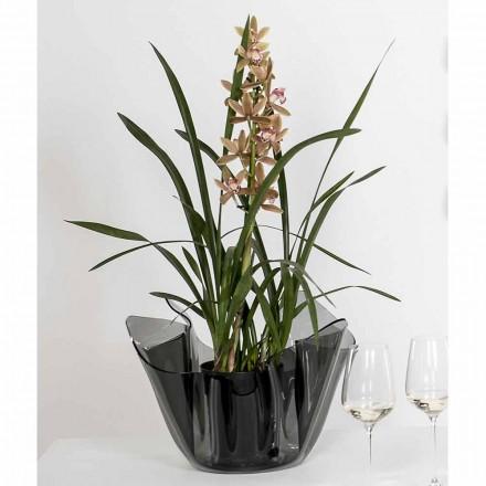 Pina wędzona drapowana wazon wewnętrzny / zewnętrzny, nowoczesny design