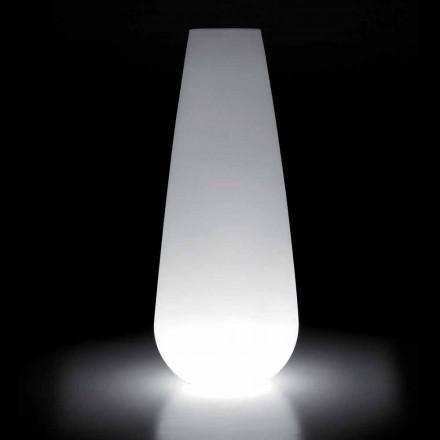 Świecący wazon do projektowania na zewnątrz z polietylenu Wyprodukowano we Włoszech - Menea