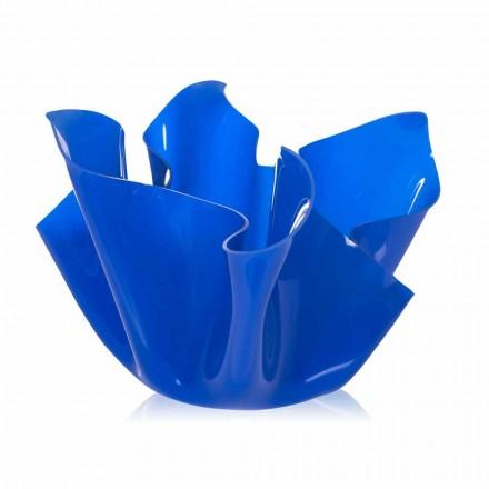 Garnek ogrodowy uniwersalny Pina niebieski, nowoczesny design, wyprodukowany we Włoszech