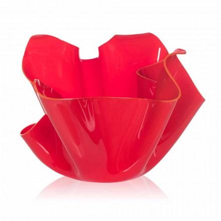 Czerwony wazon do drapowania w pomieszczeniach / na zewnątrz Pina, wyprodukowany we Włoszech