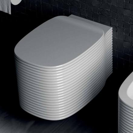 Wiszący nowoczesny wazon w ceramice wykonany we Włoszech, Amleto