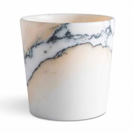 Zaokrąglony wazon z marmuru Paonazzo Made in Italy, 5 sztuk - Murlino
