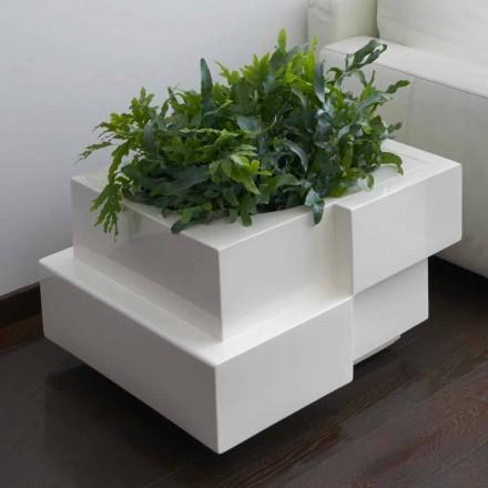 Dekoracyjny wazon na kółkach do wnętrza / wnętrza Slide Cubic Yo, wyprodukowany we Włoszech