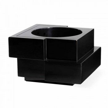 Wazon na kółkach czarny, biały Slide Cubic Yo nieregularny nowoczesny wykonany we Włoszech