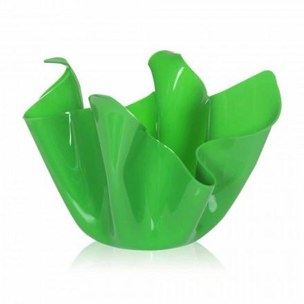 Zielony wazon do drapowania w pomieszczeniach / na zewnątrz Pina, wyprodukowany we Włoszech