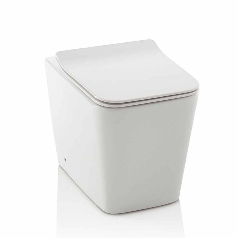 Nowoczesna włoska toaleta podłogowa z ceramiki z pokrowcem na siedzisko - Enzu