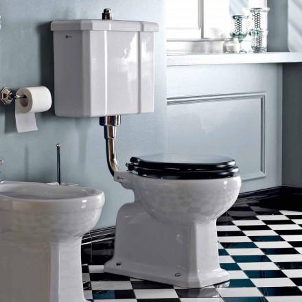 Toaleta podłogowa z ceramiczną kasetą i czarnym fotelem Made in Italy - Marwa