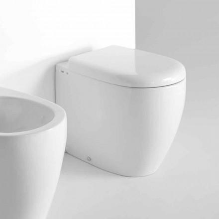 Toaleta stojąca na podłodze w nowoczesnym stylu z kolorowej ceramiki Made in Italy - Lauretta