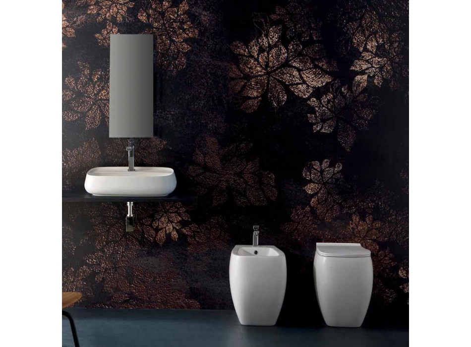 Biały ceramiczny wazon WC z nowoczesnym wzornictwem Gais, wyprodukowany we Włoszech
